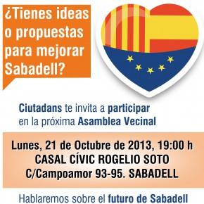 Ciutadans te invita a participar en la próxima Asamblea Vecinal