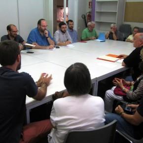 Ciutadans compromès amb el soterrament dels FGC entre Gràcia i Can Feu.