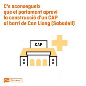 C's aconsegueix que el Parlament doni llum verda a la immediata construcció del CAP de Can Llong