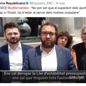 Ciutadans (Cs) reclama a Juli Fernández que priorice la alcaldía de Sabadell a su militancia en ERC