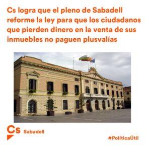 Ciutadans (Cs) Sabadell demana al Govern que modifiqui la llei sobre les plusvàlues