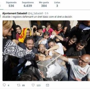 """Ciudadanos (Cs) Sabadell critica que """"el gobierno usa las redes sociales del Ayuntamiento para promocionar el 1-O"""""""