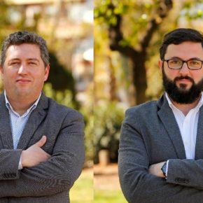 Los concejales José Luis Fernández y Ramón García, números 3 y 7 de la lista de Ciudadanos (Cs) Sabadell a las Municipales