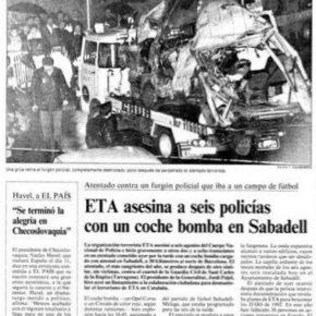 Ciudadanos (Cs) Sabadell pide al Ayuntamiento de Sabadell que conmemore el Día Europeo de las Víctimas de Terrorismo.