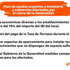 Ciudadanos presenta un paquete de medidas urgentes para ayudar a los sectores afectados por las medidas de la Generalitat para controlar el Covid-19